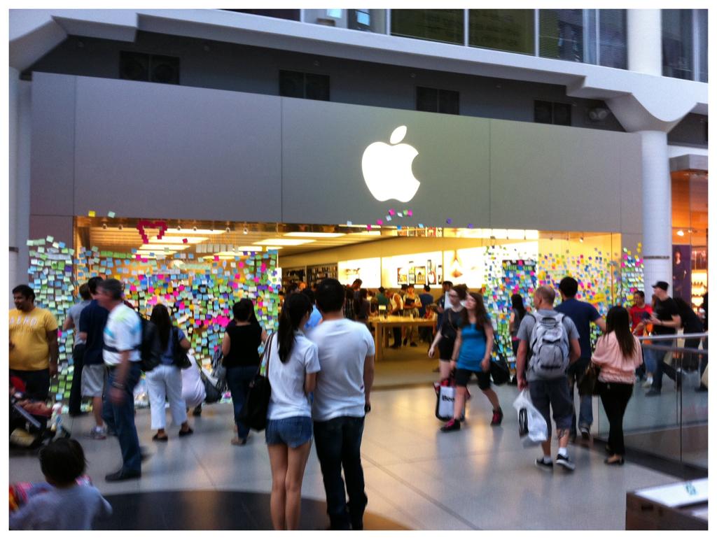 Post-it notes for Steve Jobs